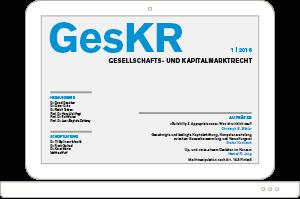 Zeitschrift GesKR